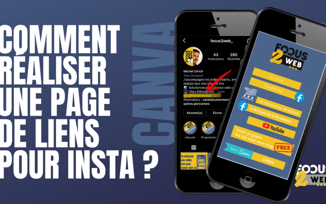 Comment réaliser un page de lien bio sur instagram avec Canva