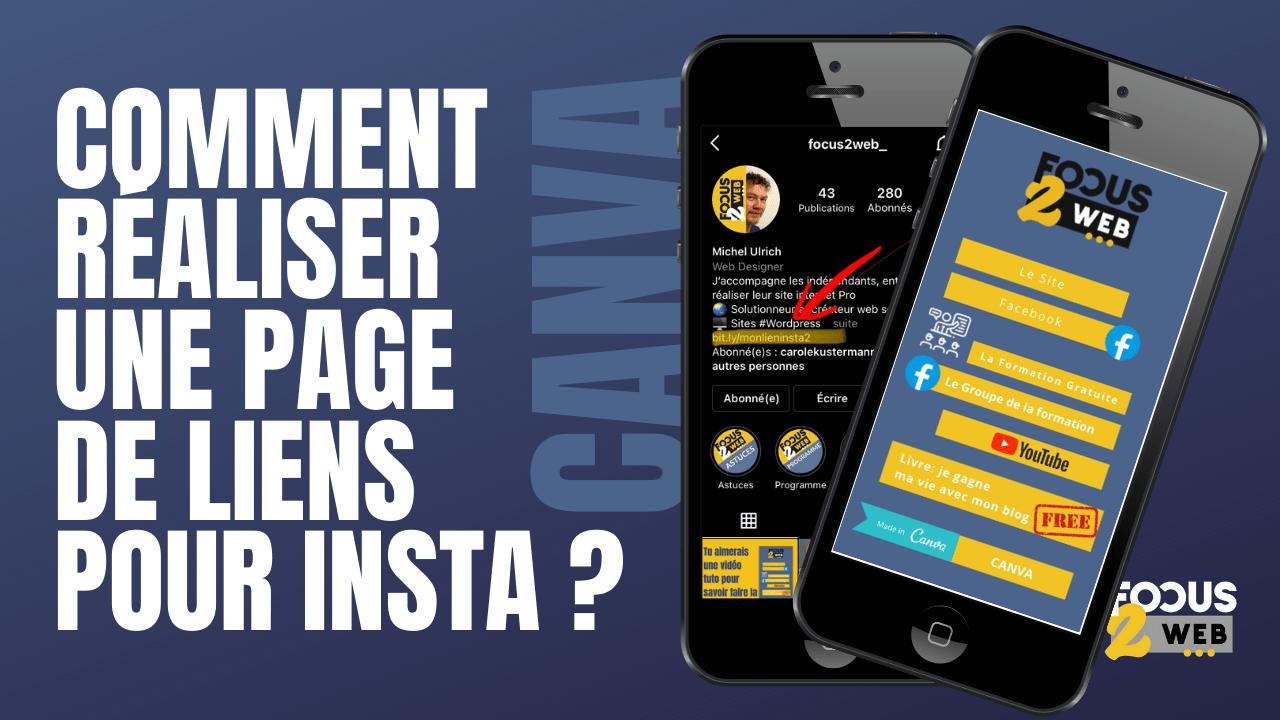 comment réaliser une page de liens pour instagram