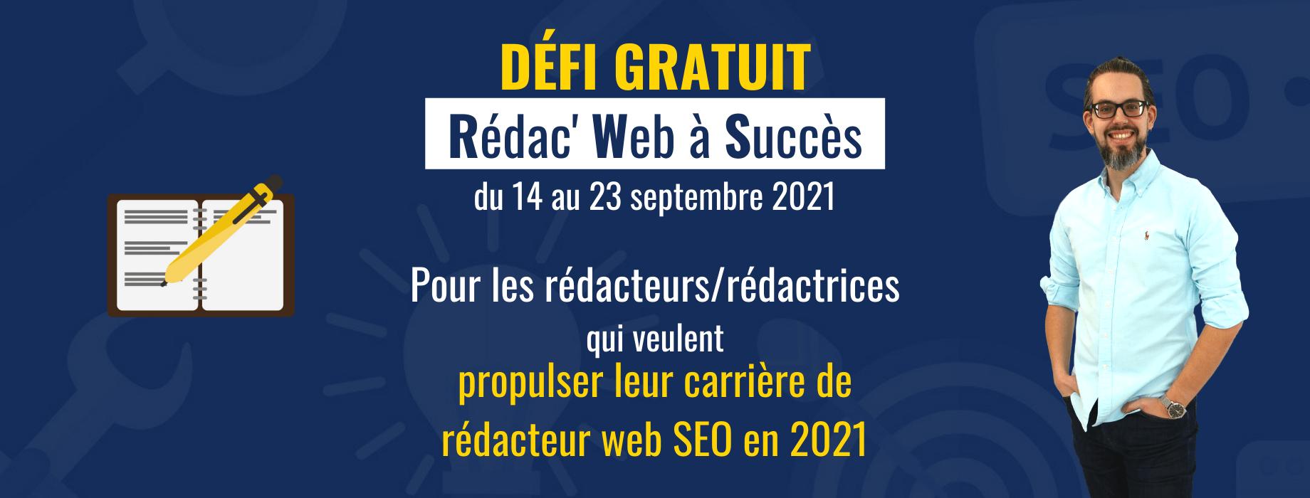 Rejoingez le défi Redac Web à succès